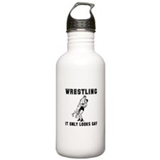 Wrestling Looks Gay Water Bottle