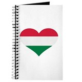 Hungary flag heart Journal