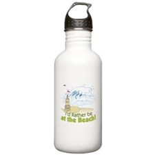 I'd rather be at the Beach! Water Bottle