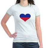 Liechtenstein flag heart T
