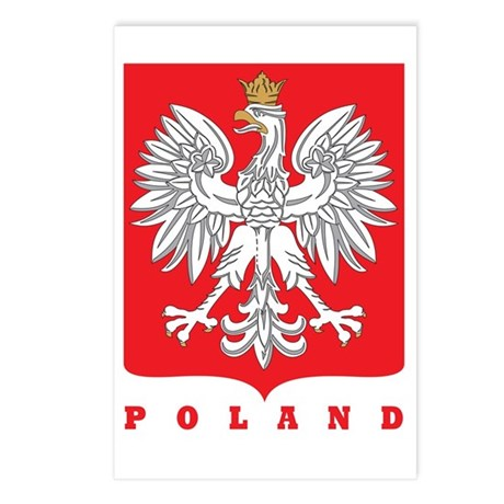 Polish Main Eagle Crest Postcards (Package of 8)