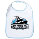 Breast Cancer Awareness Tugboat Bib