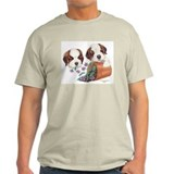 St Bernard Puppies Ash Grey T-Shirt