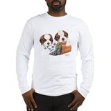 St Bernard Puppies Long Sleeve T-Shirt
