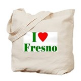 I Love Fresno Tote Bag