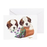 St Bernard Puppies Greeting Cards (6)