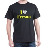I Love Fresno Black T-Shirt