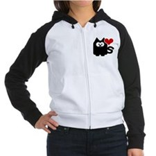 Classic LoveCATS' Collection Women's Raglan Hoodie