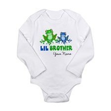 Little Brother Monster Long Sleeve Infant Bodysuit
