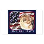 Pomeranian United US Flag Rectangle Sticker