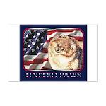 Pomeranian United US Flag Mini Poster Print