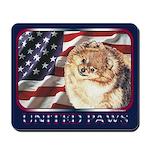 Pomeranian United US Flag Mousepad