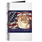 Pomeranian United US Flag Journal