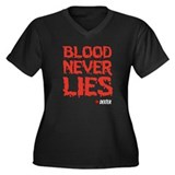 Blood Never Lies Women's Plus Size V-Neck Dark T-S