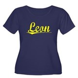 Leon, Yellow Women's Plus Size Scoop Neck Dark T-S