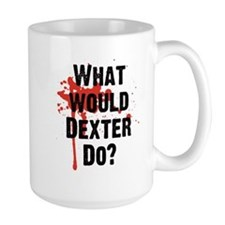 What would Dexter Do Blood Splatter Ceramic Mugs