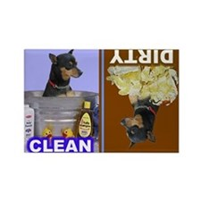 Funny Miniature pinscher Rectangle Magnet