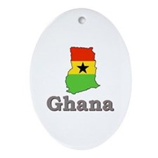 Ghana Goodies Oval Ornament