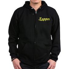 Napper, Yellow Zip Hoodie
