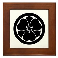 Wood sorrel and swords in circle Framed Tile