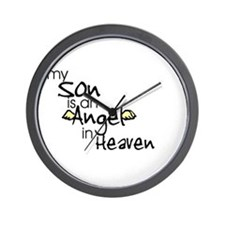 My son is an Angel Wall Clock