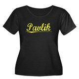 Pavlik, Yellow Women's Plus Size Scoop Neck Dark T