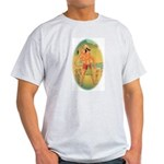 Ash Grey T-Shirt Hanuman Large