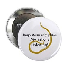 "2.25"" ""Happy Stories Only"" Button (100 pack)"