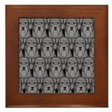 Miniature Schnauzers Framed Tile