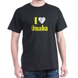I Love Omaha Black T-Shirt