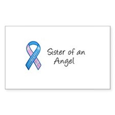 Sister of an Angel Rectangle Stickers