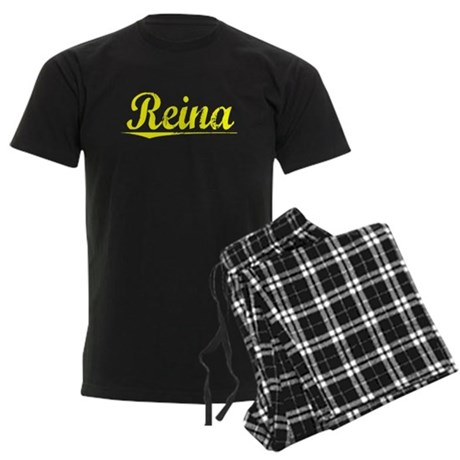 Reina, Yellow Men's Dark Pajamas