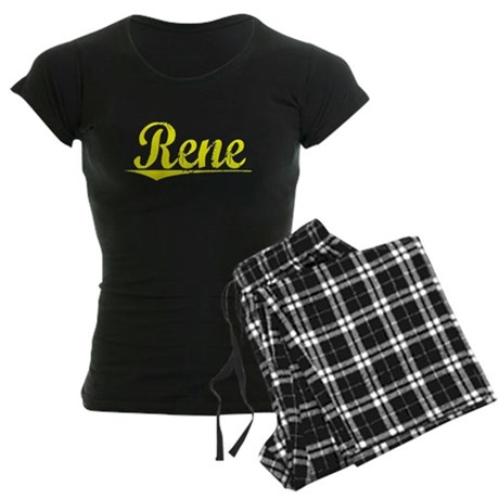 Rene, Yellow Women's Dark Pajamas