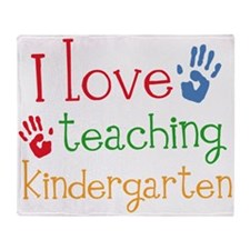 I Love Kindergarten Throw Blanket