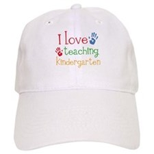I Love Kindergarten Baseball Cap