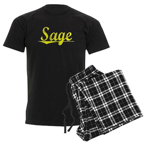 Sage, Yellow Men's Dark Pajamas