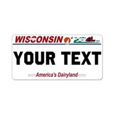 Wisconsin current license plate replica
