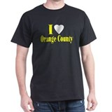I Love Orange County Black T-Shirt