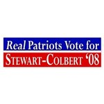 Real Patriots Vote... bumper sticker