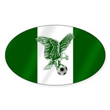 Nigerian Football Flag Bumper Stickers
