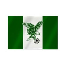 Nigerian Football Flag Rectangle Magnet (100 pack)