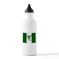 Nigerian Football Flag Water Bottle