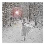 The Snow Queen Square Car Magnet 3