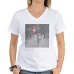 The Snow Queen Women's V-Neck T-Shirt