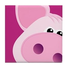 Happy Piggy Tile Coaster