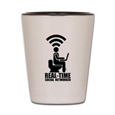 Real-time social networker Shot Glass