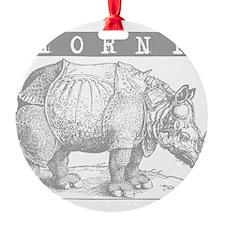 Horny Rhinoceros Ornament