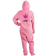 Got Pot Leaf Footed Pajamas