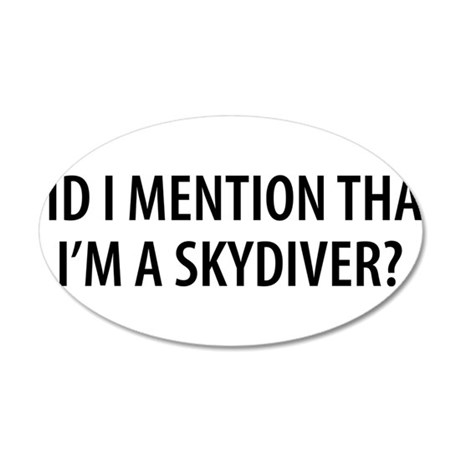 Skydiver2.png 35x21 Oval Wall Decal