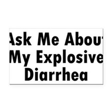 Unique Diarrhea Rectangle Car Magnet